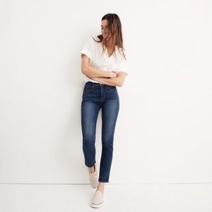 Madewell Slim Straight Jeans in Williams Wash